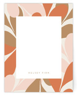 This is a orange mothers day gifts stationery by Angela Garrick called retro notes with standard printing on signature.