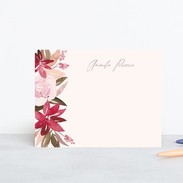 """""""Florista"""" - Personalized Stationery in Frost by Creo Study."""