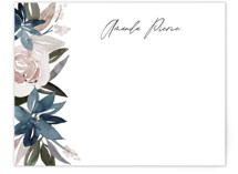 This is a blue mothers day gifts stationery by Creo Study called Florista with standard printing on signature.