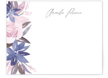 This is a purple mothers day gifts stationery by Creo Study called Florista with standard printing on signature.
