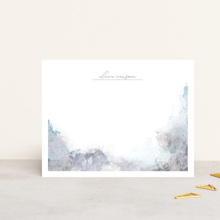 """""""stormy weather"""" - Modern Personalized Stationery in Winter White by Eric Ransom."""