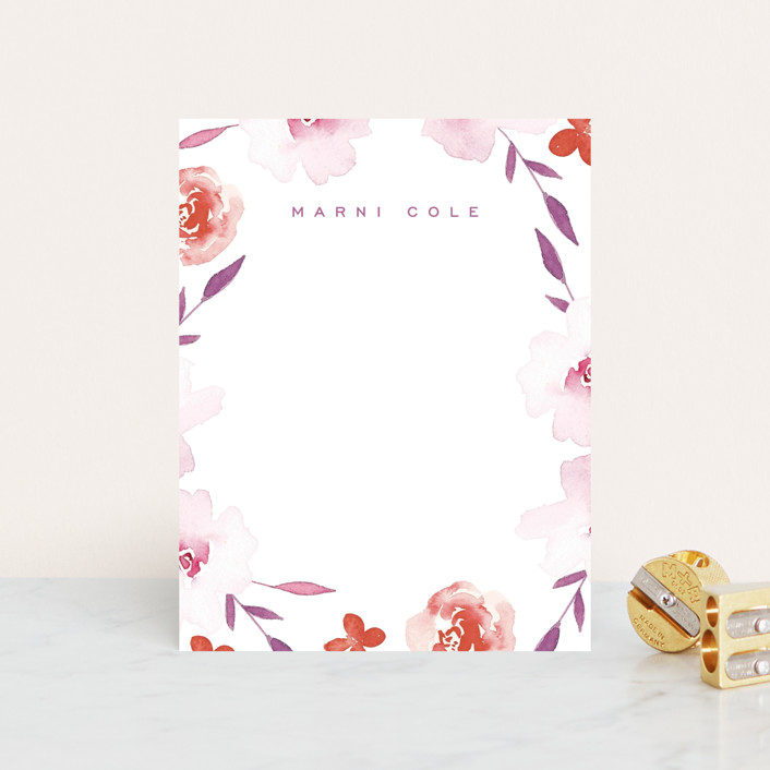 """""""Hideaway"""" - Whimsical & Funny Personalized Stationery in Petal by Kimberly FitzSimons."""