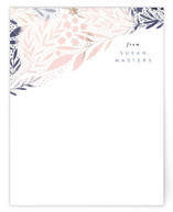This is a blue mothers day gifts stationery by Alethea and Ruth called Scattered Florals with standard printing on signature.