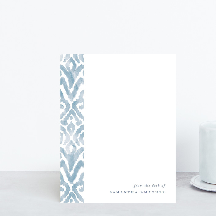 """Painterly Damask"" - Whimsical & Funny Personalized Stationery in Cornflower by Liz Conley."