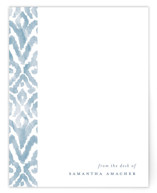 This is a blue mothers day gifts stationery by Liz Conley called Painterly Damask with standard printing on signature in 4.25x5.5.