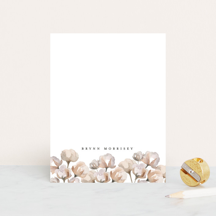 """Organic Cotton"" - Rustic, Whimsical & Funny Personalized Stationery in Cotton by Erica Krystek."