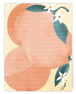 This is a orange mothers day gifts stationery by Michele Norris called Orange and Blossom Note with standard printing on signature.