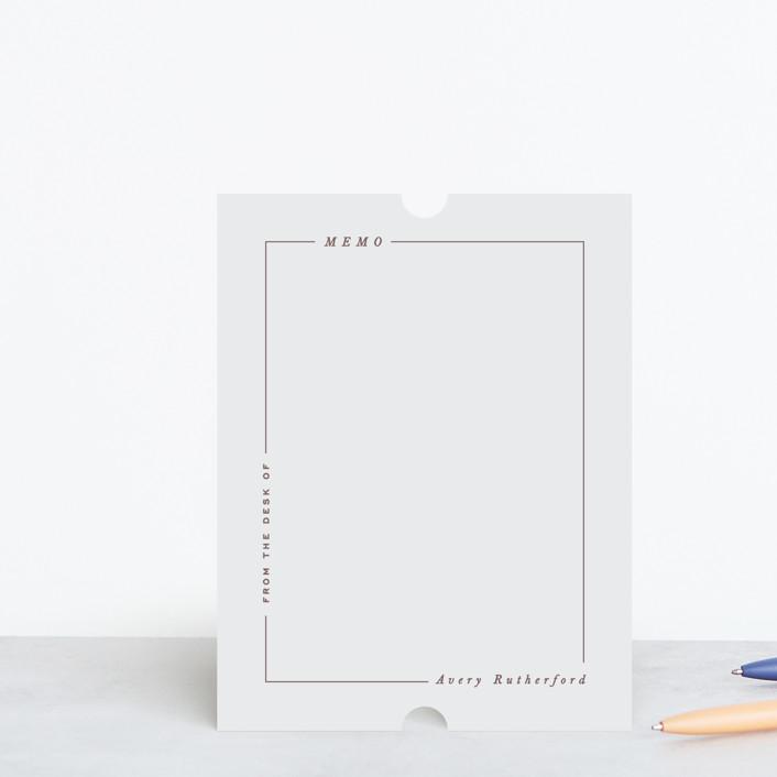 """Modern Line"" - Modern, Preppy Personalized Stationery in Ecru by Hooray Creative."