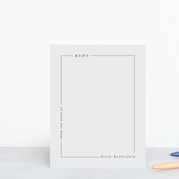 """Modern Line"" - Modern, Preppy Personalized Stationery in Ecru by Hooray Creative."
