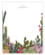 This is a green mothers day gifts stationery by Susan Moyal called Desert Notes with standard printing on signature.