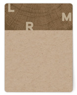 This is a brown mothers day gifts stationery by Laura Bolter called Ringed Monogram with standard printing on signature in 4.25x5.5.