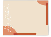 This is a orange mothers day gifts stationery by Summer Winkelman called geometric corner with standard printing on signature.