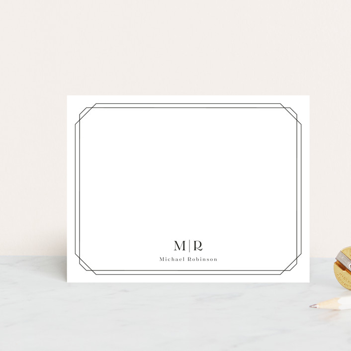 """""""Elegant Frame"""" - Personalized Stationery in Onyx by Meggy Masters."""