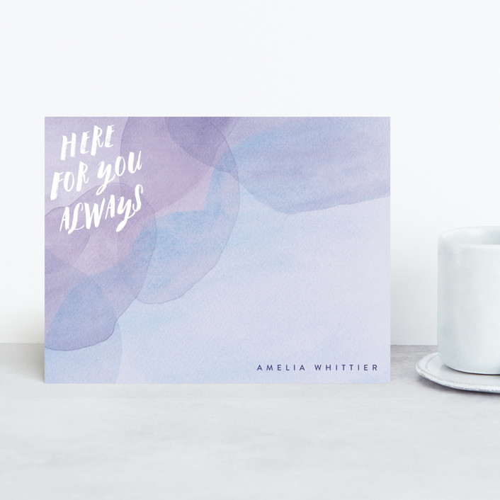 """""""Always"""" - Personalized Stationery in Lavender by Olivia Raufman."""
