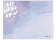 This is a purple mothers day gifts stationery by Olivia Raufman called Always with standard printing on signature.