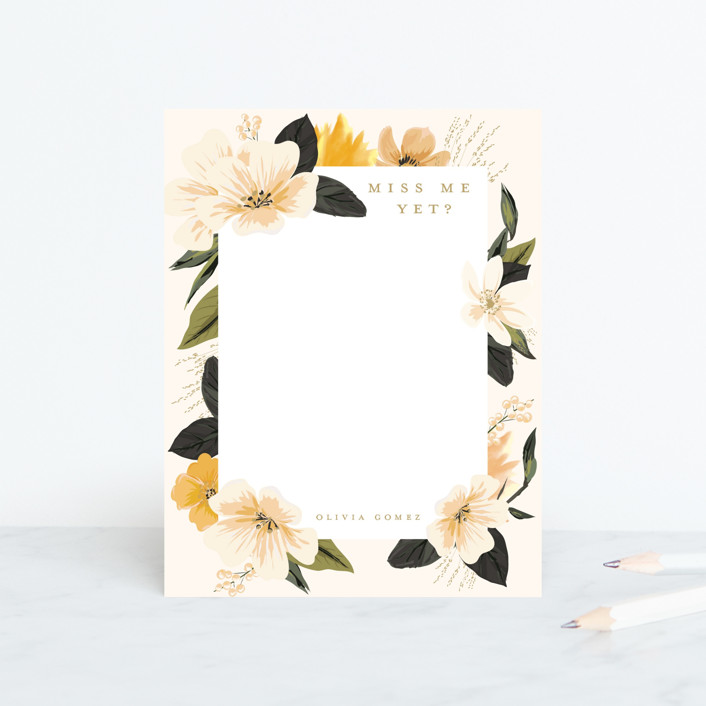 """""""Forget me not"""" - Personalized Stationery in Sunshine by Susan Moyal."""