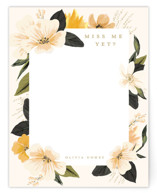 This is a yellow mothers day gifts stationery by Susan Moyal called Forget me not with standard printing on signature.