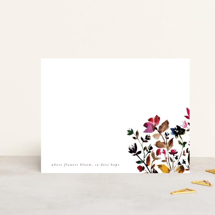 """""""island wildflowers no.6"""" - Personalized Stationery in Wildflower by Kiana Lee."""