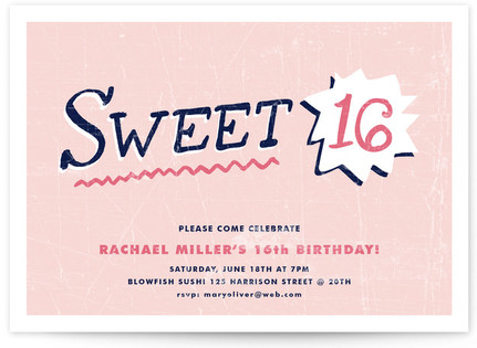 Sweet Sixteen Sweet Sixteen Party Invitations