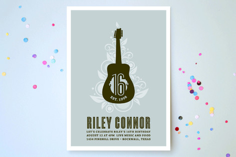 Acoustic Sweet Sixteen Party Invitations