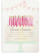 This is a pink sweet sixteen birthday party invitation by Rebecca Bowen called Painted Party with standard printing on signature in standard.
