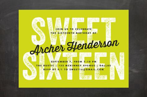 Graffiti Sweet Sixteen Party Invitations