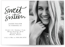This is a black sweet sixteen birthday party invitation by Lea Velasquez called Simply Chic with standard printing on signature in standard.