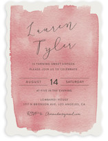 This is a pink sweet sixteen birthday party invitation by Kampai Designs called Painterly with standard printing on signature in standard.
