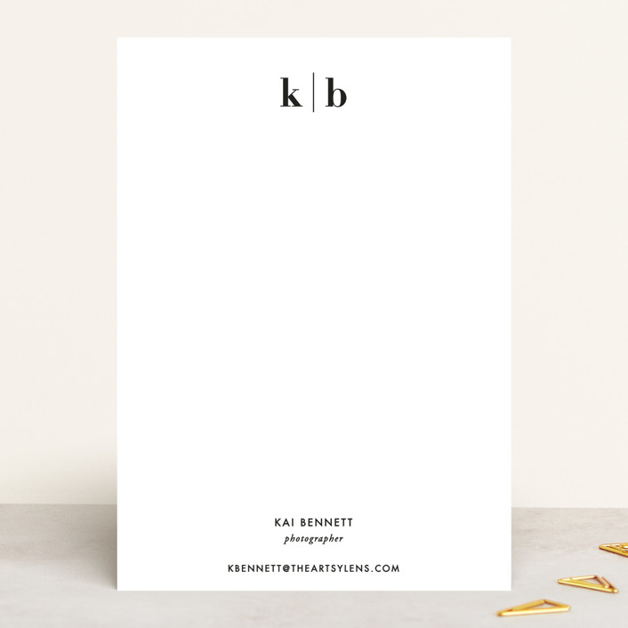 """""""Honorable"""" - 5x7 Personalized Stationery in Onyx by Jennifer Postorino."""