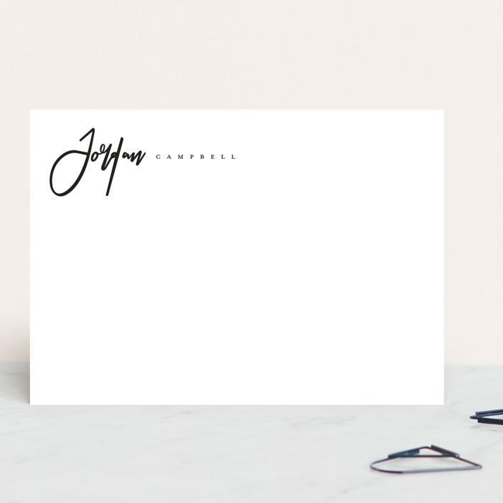 """Classic Script"" - 5x7 Personalized Stationery in Ink by peony papeterie."