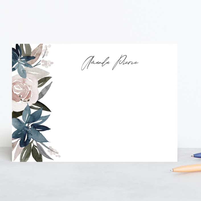 """Florista"" - 5x7 Personalized Stationery in Frost by Creo Study."