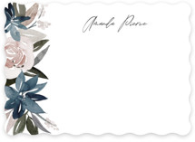 This is a blue personalized stationery thank you card by Creo Study called Florista with standard printing on signature in 5x7.