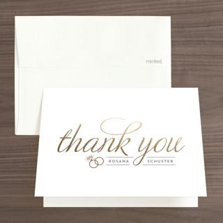 Golden Bride Foil-Pressed Bridal Shower Thank You Cards