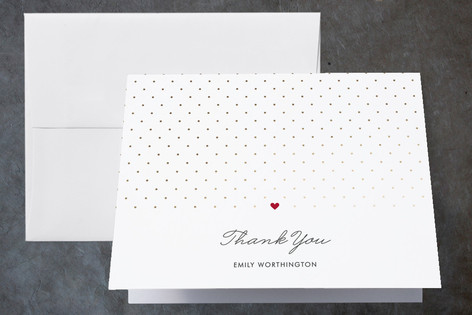 Polka Dot Foil-Pressed Bridal Shower Thank You Cards