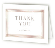 This is a brown wedding thank you card by Kristie Kern called Engaging with foil-pressed printing on strathmore in standard.