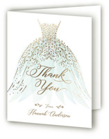 This is a gold wedding thank you card by Paper Sun Studio called floral spray with foil-pressed printing on strathmore in standard.