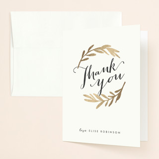 Aisle Foil-Pressed Bridal Shower Thank You Cards