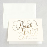 Foil-Pressed Bridal Shower Thank You Cards