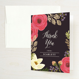 Rhapsody Foil-Pressed Bridal Shower Thank You Cards