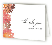 This is a pink wedding thank you card by Petra Kern called Garden Spring Blossom with foil-pressed printing on strathmore in standard.