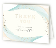 tranquil Foil-Pressed Bridal Shower Thank You Cards