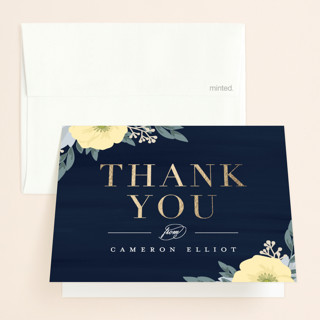 Blooming Shower Foil-Pressed Bridal Shower Thank You Cards