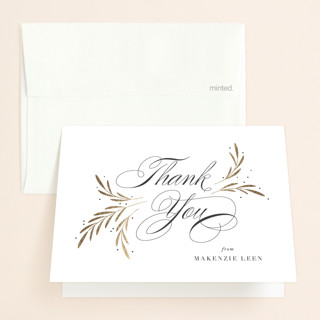 Sweet Bridal Wishes Foil-Pressed Bridal Shower Thank You Cards