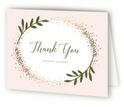 This is a gold wedding thank you card by Michelle Taylor called Sparkling with foil-pressed printing on strathmore in standard.