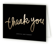 This is a black tie bridal shower thank you card by chocomocacino called Charlemagne with standard printing on strathmore in standard.