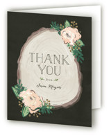 This is a blush bridal shower thank you card by Melissa Egan of Pistols called Rustic Wooded Romance with standard printing on strathmore in standard.