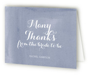 This is a purple bridal shower thank you card by Penelope Poppy called Simply Baby with standard printing on strathmore in standard.