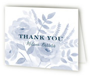This is a indigo bridal shower thank you card by Jill Means called Watercolor Floral with standard printing on strathmore in standard.