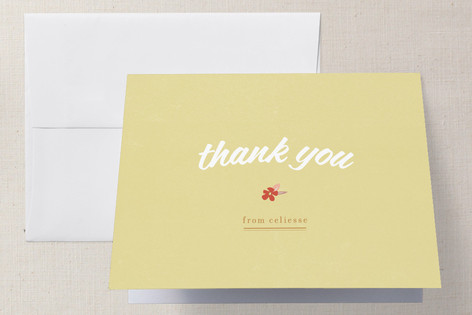 Flower Toss Bridal Shower Thank You Cards