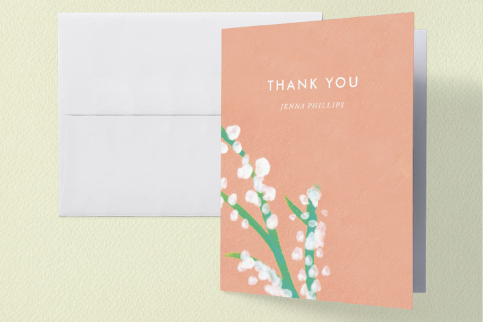 """""""Matthiola"""" - Bridal Shower Thank You Cards in pink 